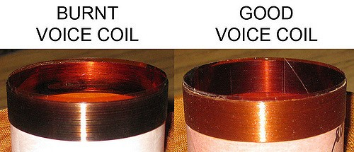 how to fix voice coils burning