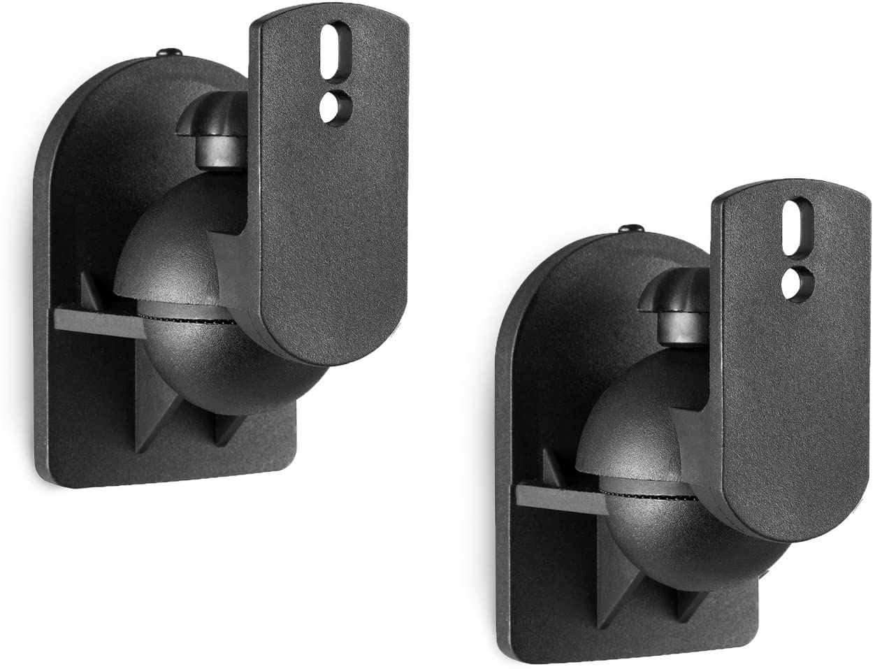 WALI Dual Speaker Wall Mount Brackets Multiple Adjustments for Bookshelf